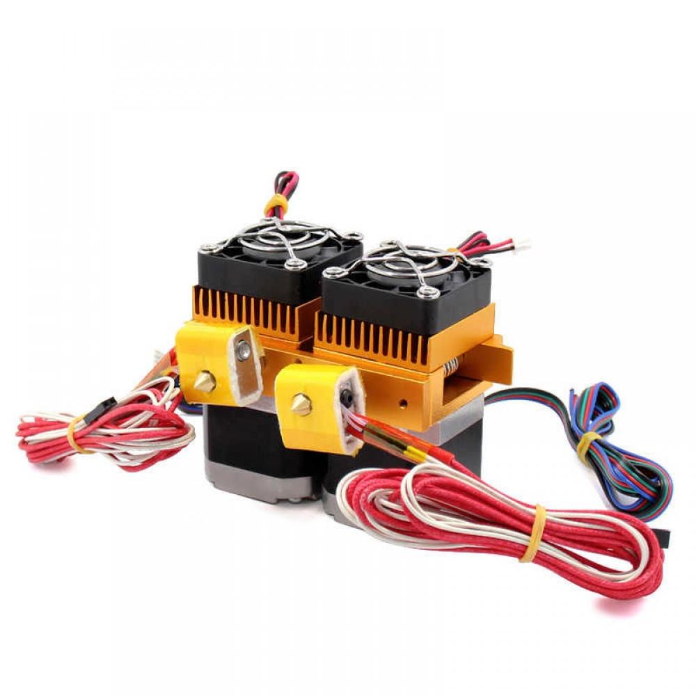 اکسترودر دو نازل مدل MK8 پرینتر سه بعدی (فیلامنت 1.75mm، هیتر، ترمیستور)