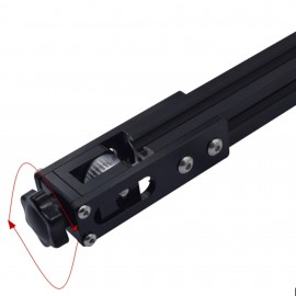 قطعه آلومینیومی نگهدارنده پولی تسمه محور X پرینتر های سه بعدی مناسب برای پروفیل آلومینیومی 20 در 20