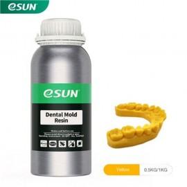 رزین  قالب دندانسازی LCD/MSLA پرینتر سه بعدی زرد برند ایسان Esun Dental Mold Resin Yellow