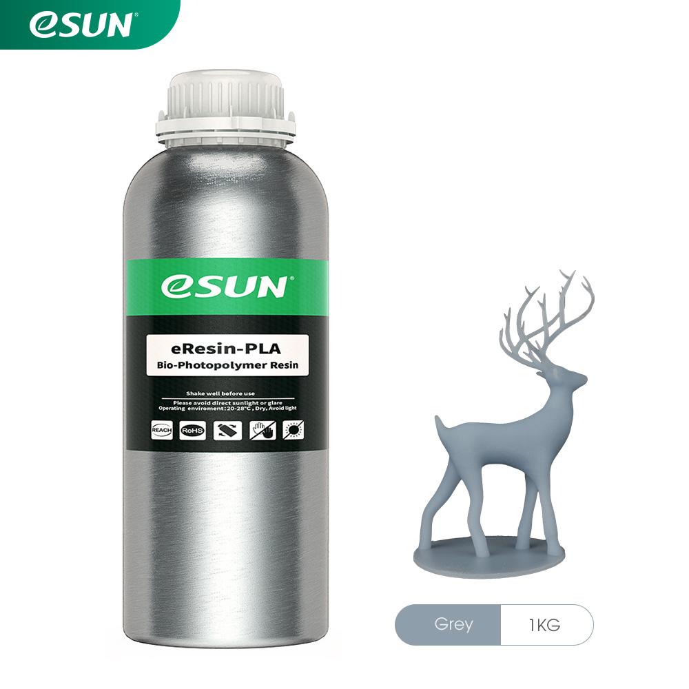 رزین eResin LCD/MSLA پرینتر سه بعدی خاکستری برند ایسان Esun eResin-PLA Resin Gray