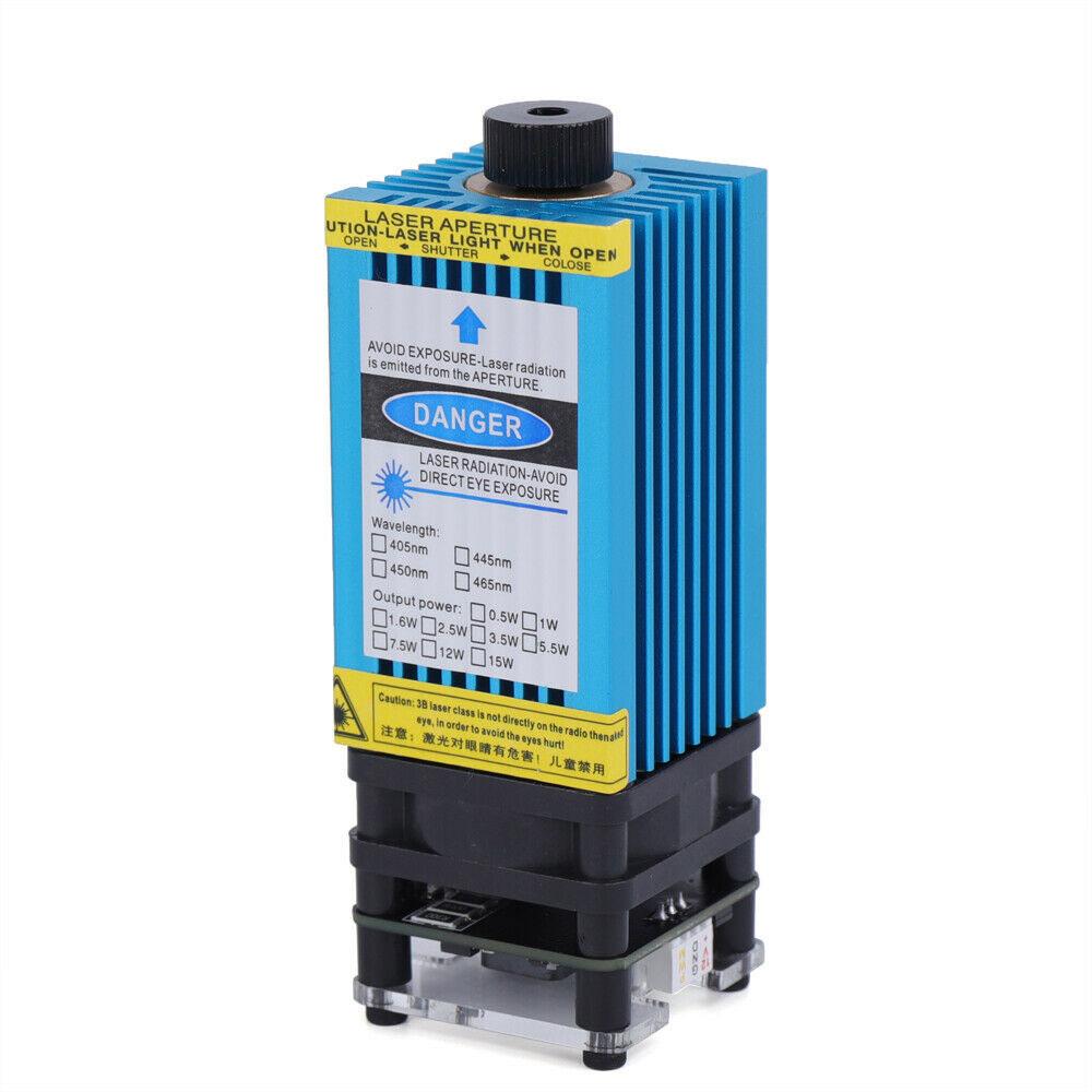ست کامل دیود لیزر آبی 450 نانومتری 15 وات 15W 450nm Blue Laser Module Laser PWM/TTL