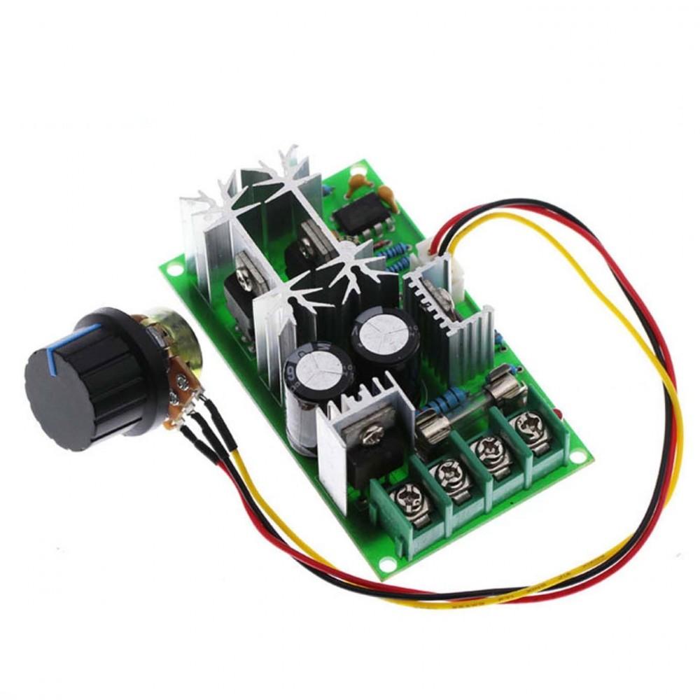 ماژول کنترل سرعت موتور DC با قابلیت پشتیبانی از ولتاژ 9 تا 60 ولت 20 آمپر PWM