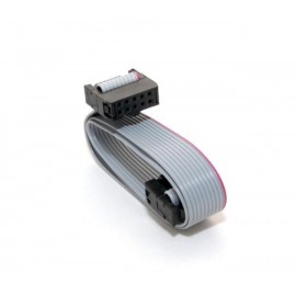 کابل فلت 10 رشته دو سر پین دار مناسب برای افزایش طول کابل های LCD 2004 و LCD 12864