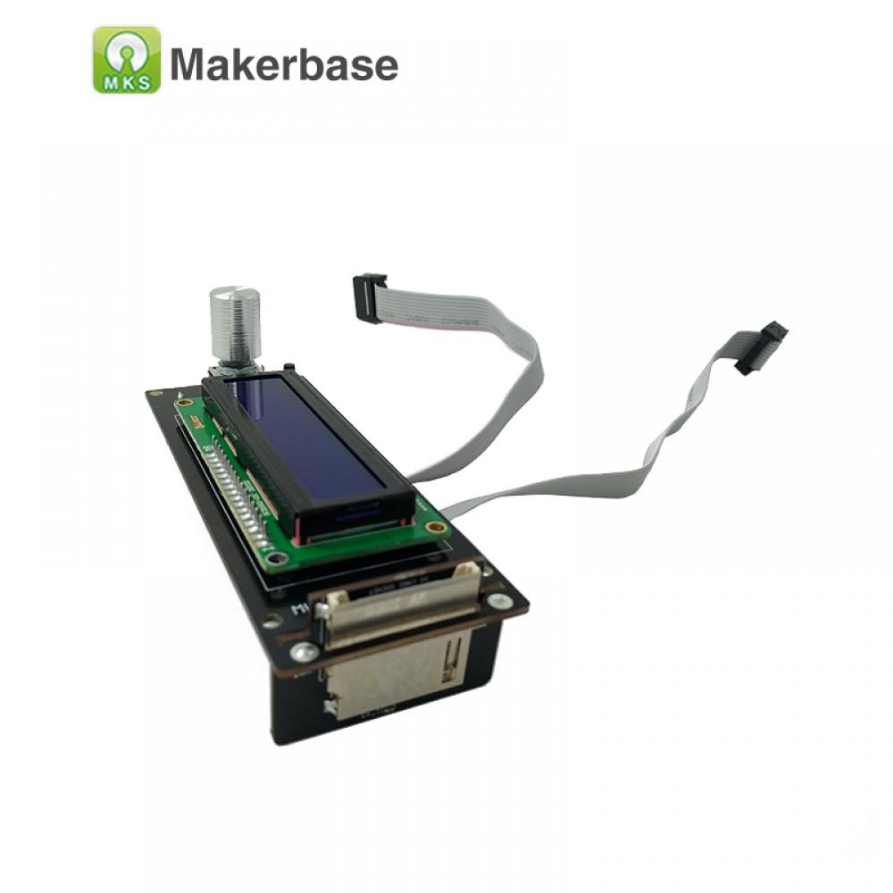 نمایشگر کنترلر پرینتر سه بعدی MKS LCD1602 همراه با کابل