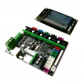 برد کنترلر پرینترهای سه بعدی MKS Robin Nano STM32 همراه با نمایشگر رنگی و لمسی Robin TFT2.8