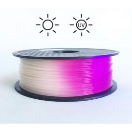 فیلامنت PLA تغییر رنگ در برابر نور 1.75mm (سفید به بنفش روشن)