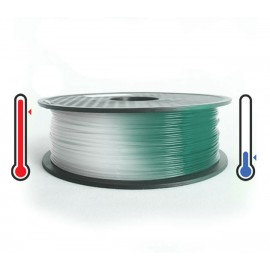فیلامنت PLA تغییر رنگ در برابر حرارت 1.75mm (سبز مالاکیت به سفید)