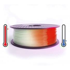 فیلامنت PLA تغییر رنگ در برابر حرارت 1.75mm (نارنجی به سفید)