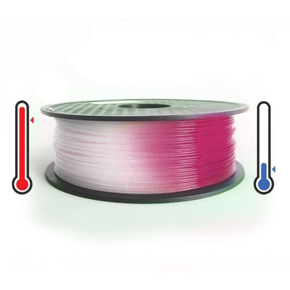 فیلامنت PLA تغییر رنگ در برابر حرارت 1.75mm (صورتی به سفید)