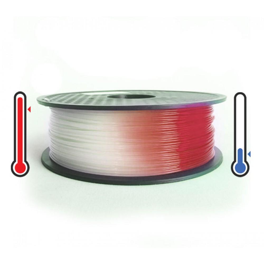 فیلامنت PLA تغییر رنگ در برابر حرارت 1.75mm (قرمز به سفید)