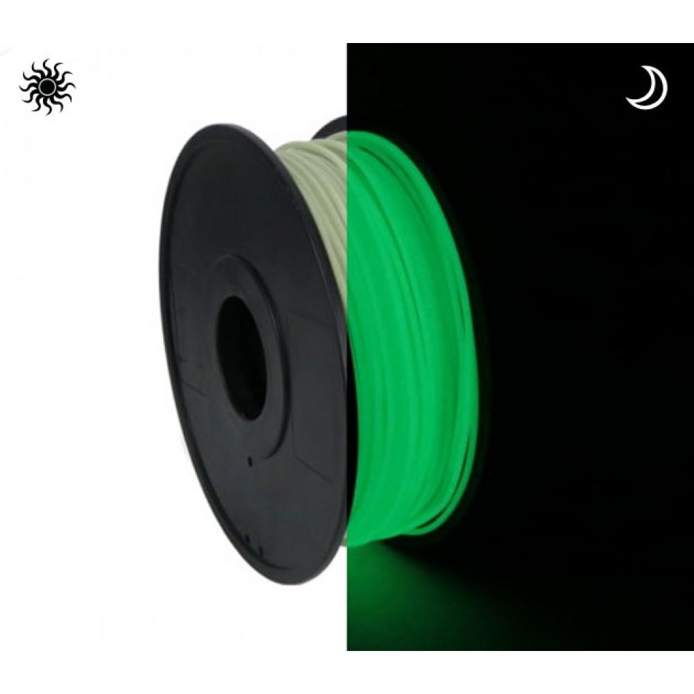 فیلامنت PLA سبز شب نما (درخشان در تاریکی) 1.75mm