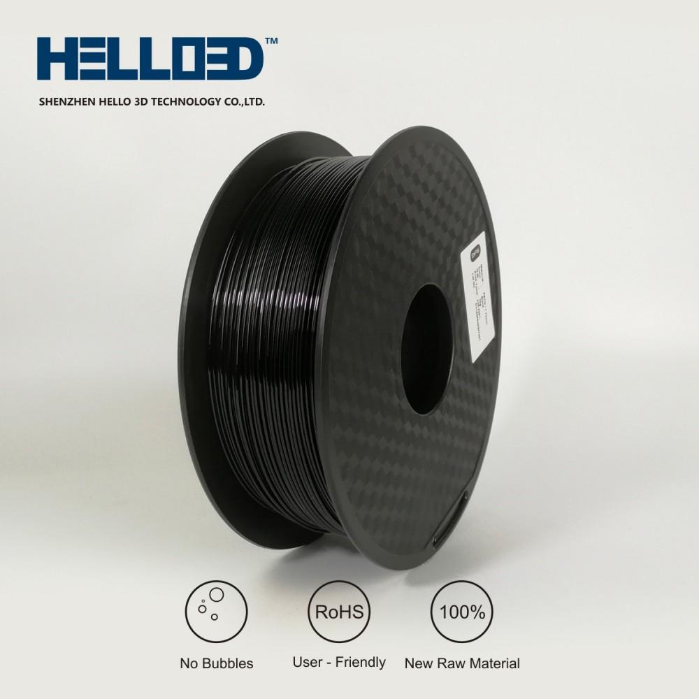 فیلامنت PETG برند HELLO 3D رنگ سیاه 1.75mm