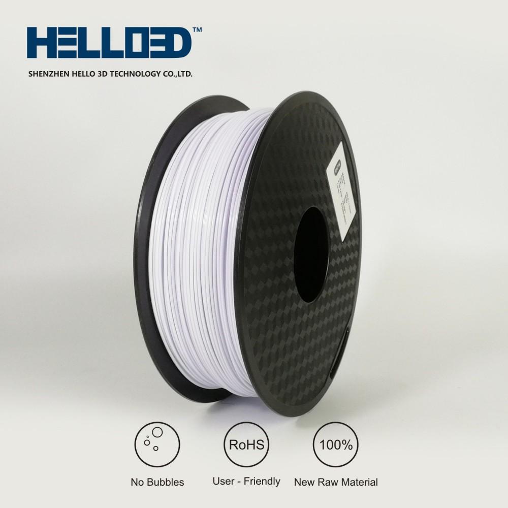 فیلامنت PETG برند HELLO 3D رنگ سفید 1.75mm