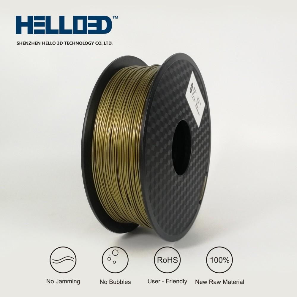 فیلامنت PLA برند HELLO 3D رنگ برنز 1.75mm