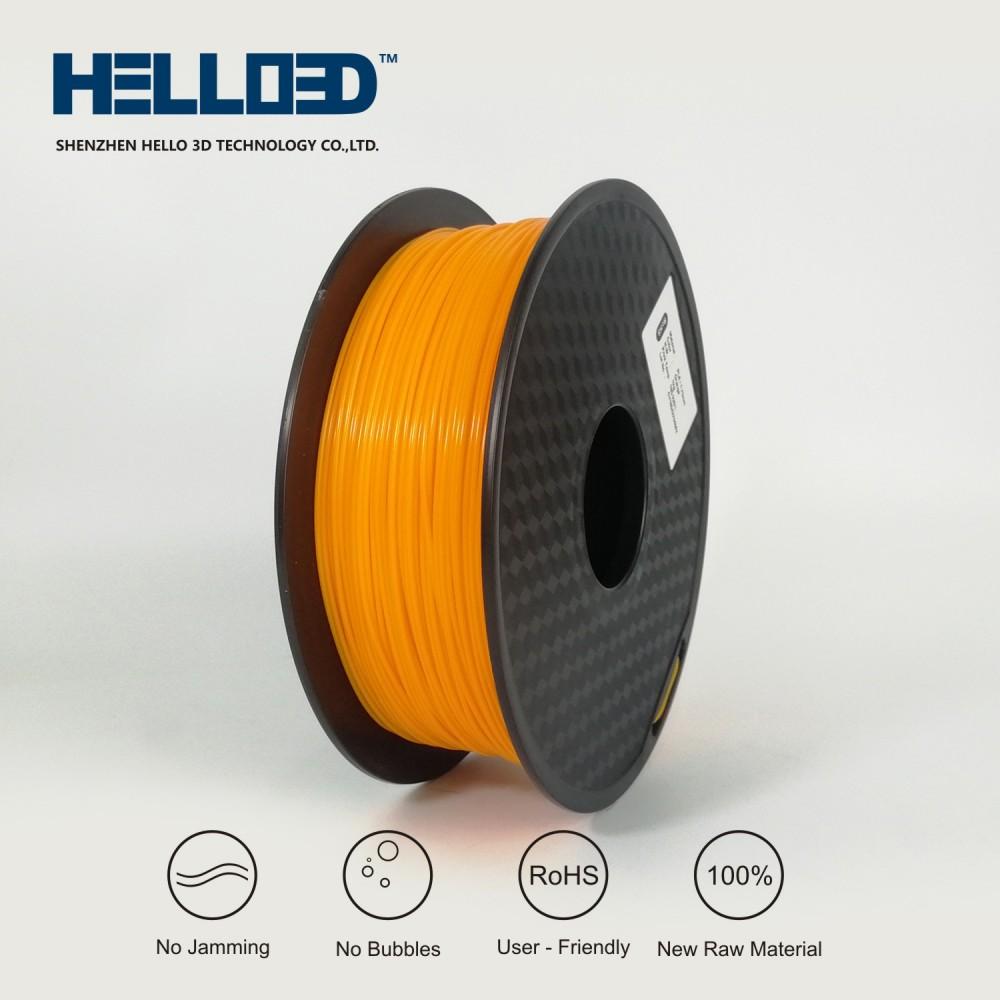 فیلامنت PLA برند HELLO 3D رنگ نارنجی 1.75mm