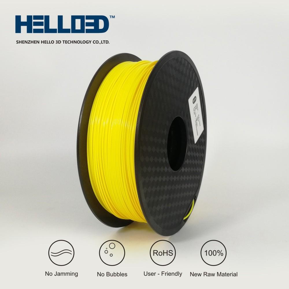 فیلامنت PLA برند HELLO 3D رنگ زرد 1.75mm