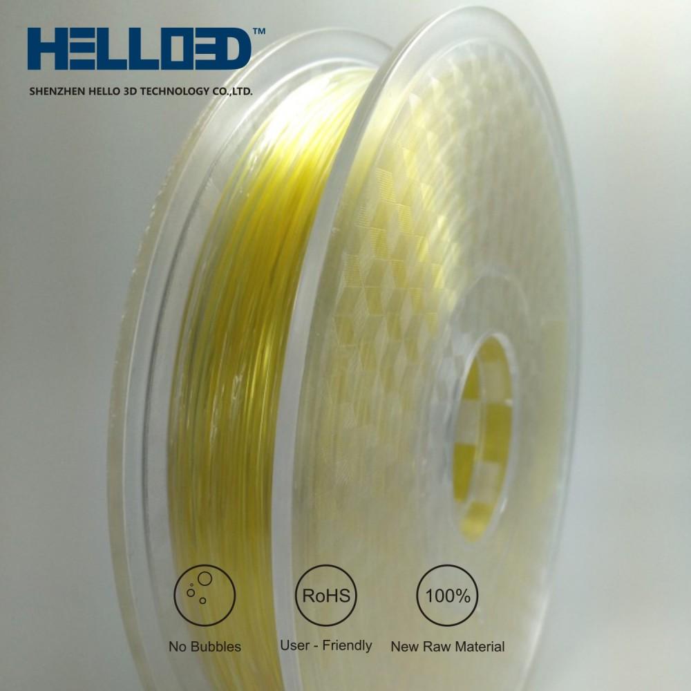 فیلامنت PVA برند HELLO 3D پی وی ای 1.75mm (حلال در آب)