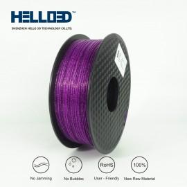 فیلامنت Shining PLA برند HELLO 3D رنگ بنفش 1.75mm
