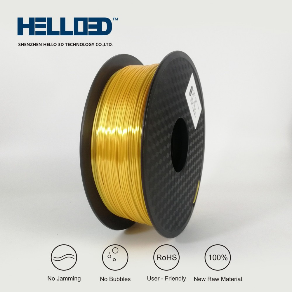فیلامنت Silk-PLA برند HELLO 3D رنگ طلایی 1.75mm