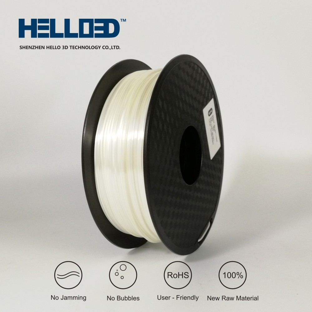 فیلامنت Silk-PLA برند HELLO 3D رنگ سفید 1.75mm