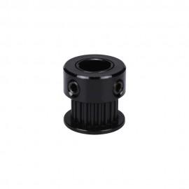 پولی 20 دندانه GT2-20 مخصوص پرینتر سه بعدی شافت 8mm آنادایز مشکی