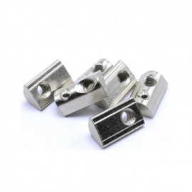 مهره T فنری شماره M4 مناسب برای پروفیل آلومینیومی سری 30