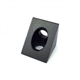 کانکتور گوشه زاویه ای 45 درجه آلومینیومی سیاه مناسب برای پروفیل آلومینیومی 20 در 20