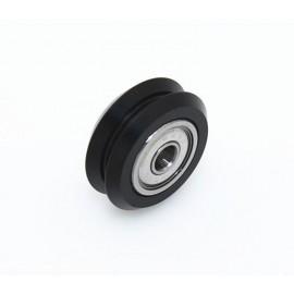 چرخ DUAL V جنس POM با دو عدد بلبرینگ Openbuilds POM DUAL V wheel - 625zz
