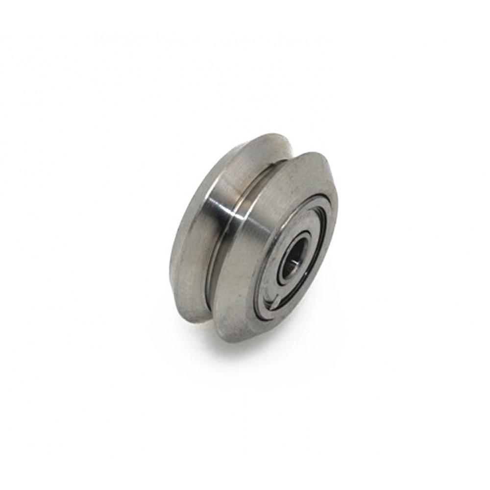 چرخ DUAL V جنس استیل با دو عدد بلبرینگ Openbuilds stainless steel V wheel - 625zz